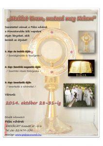 Pálos nővérek plakát 2014.10.28